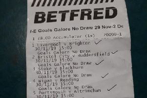 The winning betting slip