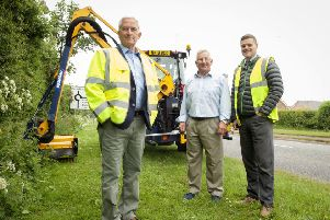 From left, Coun Glen Sanderson, Morpeth Stobhill county councillor John Beynon and Stephen Wardle, Neighbourhood Services area manager.