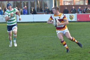 Tom Grimes is in try-scoring form for Fylde