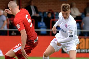 James Hardy has left AFC Fylde on loan for FC Halifax Town''                        Picture: Steve McLellan