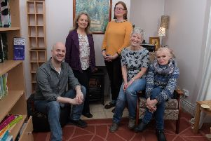 Photo Neil Cross'North Lancs Counselling Service'Jonathan Haslam, Rose Fisher, Karyn Brand, Christine Hill and Margaret O'Neill