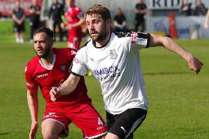 Alistair Waddecar scored twice for Brig at the weekend