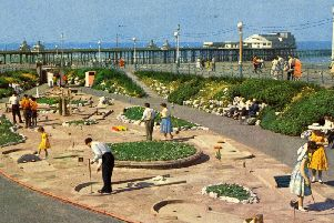 The crazy golf course on North Promenade, near the Metropole Hotel, during the 1960s. Picture sent by the Blackpool Civic Trust