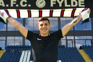 Scott Duxbury makes himself at home at Mill Farm Picture: AFC FYLDE