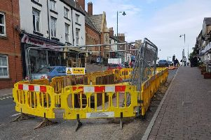 Poulton Street has been down to one lane for several weeks (image courtesy of Damien Buckley)