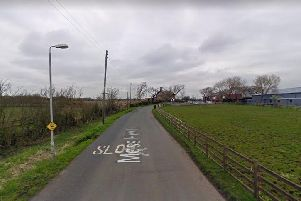 "The aptly-named Moss Hey Lane near Tarleton - one of the ""moss roads"" due to undergo repair work (Google image)"