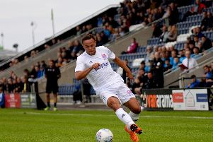 Kurt Willoughby as among those making his first Mill Farm appearance as a Fylde player  Picture: STEVE MCLELLAN