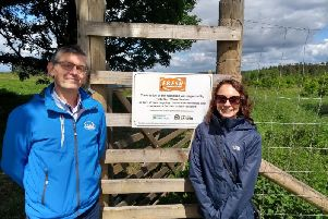 Nicola McGrath, CEO of Fresh Start Waste Services, is pictured with the companys commercial director, Colin Harvey