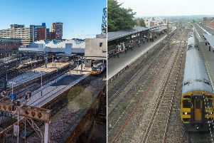 Leeds and Wakefield Westgate stations.