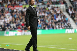 Phillip Cocu looks on during the draw with Swansea. Photo by Jez Tighe.