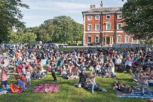 A bumper crowd for an outdoor play at Lytham Hall