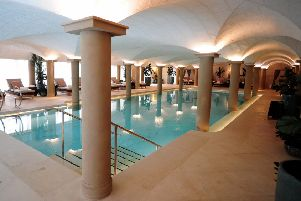 A swimming pool to dive for at the �70m hotel and spa. (Simon Hulme).