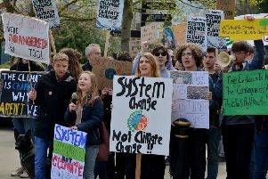 Students from the Matlock area staged a climate change protest