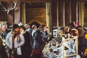 Winter artisan market at Haddon Hall. Photo by Kahler.