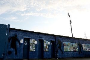 Macclesfield Town's Moss Rose Ground. (Photo by Charlotte Tattersall/Getty Images)