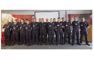 Derbyshire's new on-call firefighters.