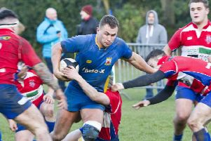 Tom Cruttenden forging through challenges during Matlock's defeat.