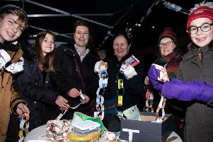 Decoration making at the launch of the Longridge Environment Group