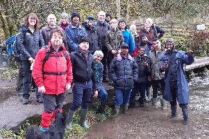 Refugees and asylum-seekers with volunteers on their visit to the Peak District National Park.