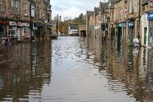 How the floods last month turned Matlock town centre into a lake.