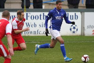 Marcus Marshall pulled goal back for Matlock Town, but they still went out of the FA Trophy at Eastleigh.