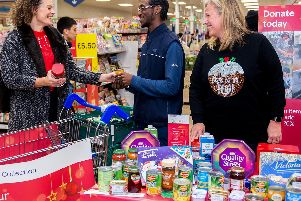 Derbyshire shoppers donated more than 11,000 meals to the Tesco Food Collection appeal. Photo: Pete Maclaine/ParsonsMedia.net