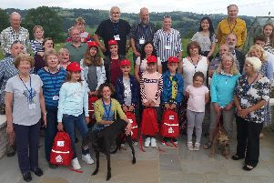 A group of Chernobyl children with their host families on a visit to the Derbyshire Dales last year.