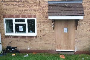 One of the houses on the Hurst Farm Estate that was closed by a court order in December because of illegal drugs activity.