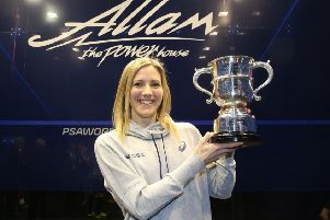Laura Massaro with the trophy last year (photo: PSA)