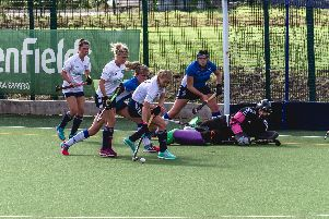 National Conference action from Fylde Ladies v Leeds