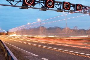 A section of the M1 smart motorway