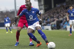 Marc-Antoine Fortune, who scored one of the goals in Chesterfield's heroic fightback from 3-0 down.
