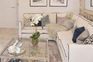 A house plant centred in a living room at David Wilson Homes in  Drakelow Park