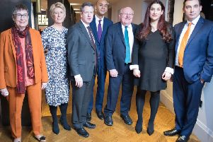 The founder members of The Independent Group at their press launch on Monday.