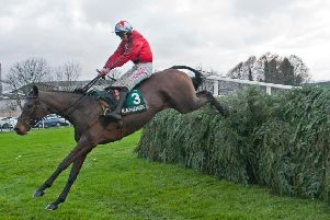 Blaklion won the 2017 Becher Chase over the Grand National fences under Gavin Sheehan.