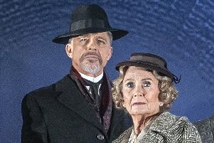 Max Caulfield and Juliet Mills in The Lady Vanishes. Photo by Paul Coltas.