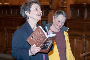 Fiona Frank, (left),  pictured at the launch of  'Candles, Conversions and Class'