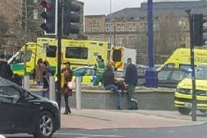Emergency services were called to Dewsbury Train Station this morning.
