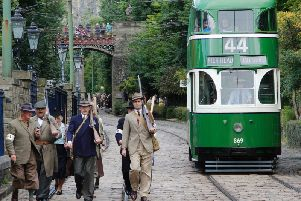 World War II Home Front event at Crich Tramway Village.