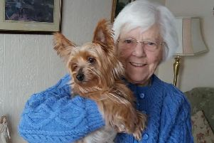 Crich resident Lena Bramley saw her terrier Tiny killed last week after it was attacked by another dog.