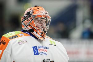 HEADING OUT: Goaltender Brad Day is leaving Sheffield Steelers. Picture courtesy of Scott Wiggins/EIHL.