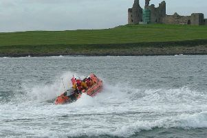 The RNLI crew at Craster in action. Picture by RNLI