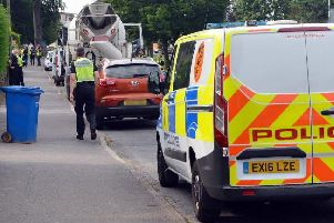 Police on Penmore Close.