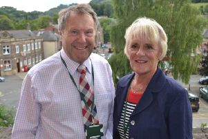 Derbyshire Dales District council leader Garry Purdy and deputy leader Susan Hobson pictured at Matlock Town Hall.