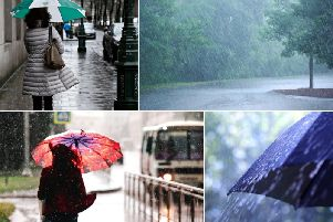 Thunderstorms and heavy rain have been forecast