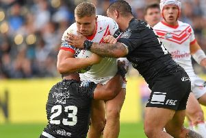 Matty Lees in action for Saints