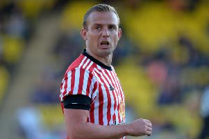 LIVINGSTON, SCOTLAND - JULY 12: Lee Cattermole of Sunderland in action during the pre season friendly between Livingston and Sunderland at Almondvale Stadium on July 12, 2017 in Livingston, Scotland. (Photo by Mark Runnacles/Getty Images)