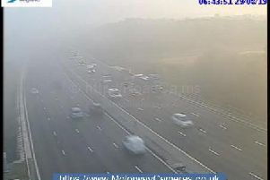 M1 junction 25 northbound this morning.