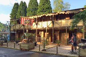 The exterior of Explorers' Retreat, Gulliver's Kingdom, Matlock Bath.