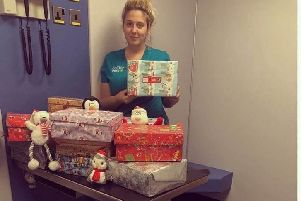 Mission: Calder Vets joined the Operation Christmas Child appeal.